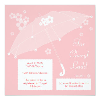 Umbrella Bridal Shower Invitation (pink)