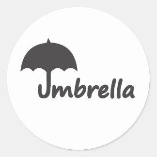 Umbrella Classic Round Sticker