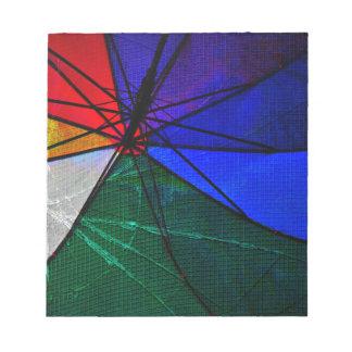 Umbrella Closeup Notepad