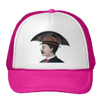 Umbrella Hat - Vintage Illustration