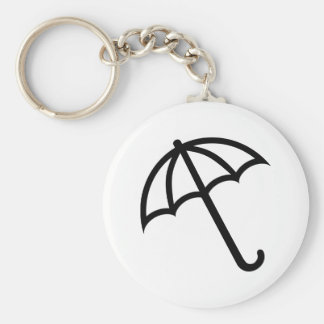 Umbrella icon key ring