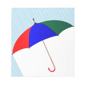 Umbrella In The Rain Notepad
