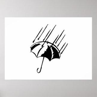 Umbrella in the Rain Posters