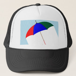 Umbrella In The Rain Trucker Hat