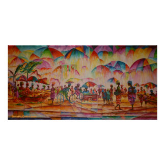 Umbrella Market - Canvas Print