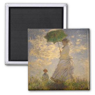Umbrella Monet Painting Magnet