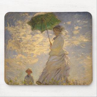 Umbrella Monet Painting Mousepad