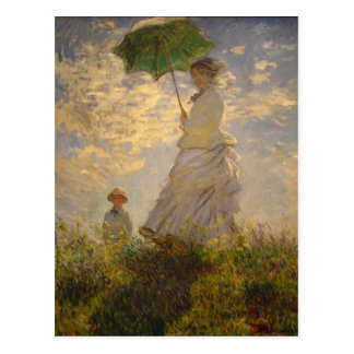 Umbrella Monet Painting Postcard