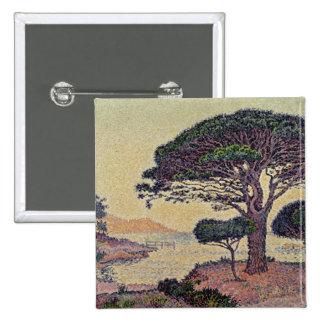 Umbrella Pines at Caroubiers, 1898 15 Cm Square Badge