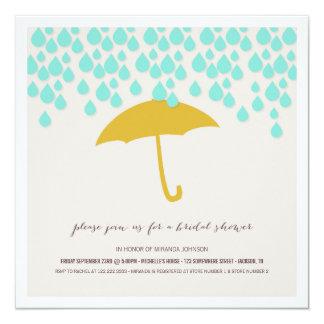 Umbrella & Rain Drops Bridal Shower Invitations