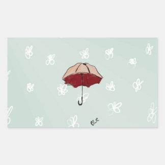 Umbrella Rectangular Sticker