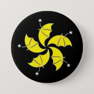 Umbrella revolution 7.5 cm round badge