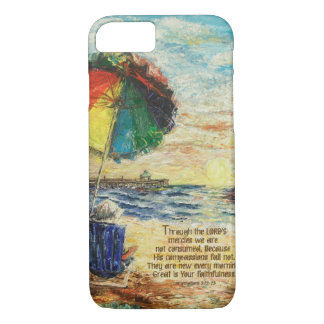 Umbrella Sunrise Lamentations 3:22-23 iPhone 8/7 Case