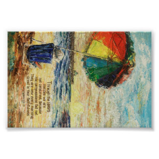Umbrella Sunrise Lamentations 3:22-23 Poster