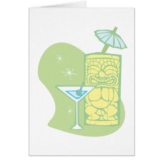 Umbrella Tiki Card