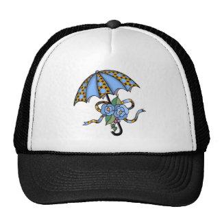 Umbrella with Roses 03 Mesh Hat
