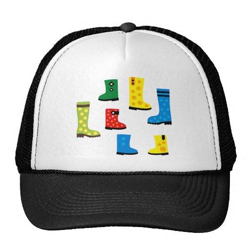 UmbrellaBoots4 Trucker Hats