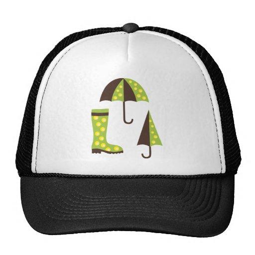 UmbrellaBoots7 Trucker Hats