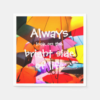Umbrellas / Always look on the bright side of life Paper Napkin
