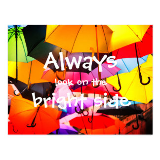 Umbrellas // Always look on the bright side Postcard