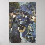 Umbrellas by Renoir, Vintage Impressionism Art