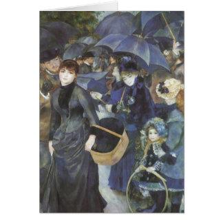 Umbrellas by Renoir, Vintage Impressionism Art Greeting Cards