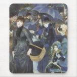 Umbrellas by Renoir, Vintage Impressionism Art Mousepads