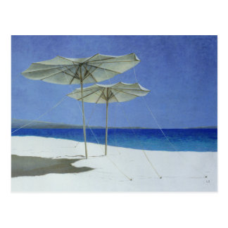 Umbrellas Greece 1995 Postcard