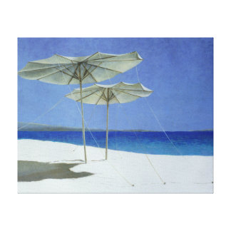 Umbrellas Greece 1995 Stretched Canvas Print