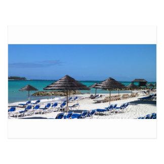 Umbrellas in the Bahamas Postcard