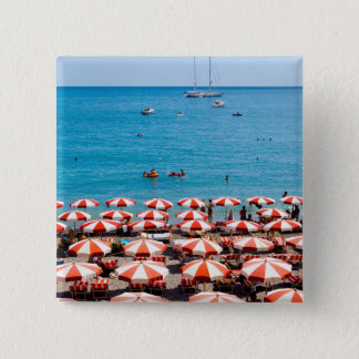 Umbrellas On Amalfitan Coast 15 Cm Square Badge
