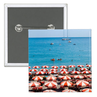 Umbrellas On Amalfitan Coast 15 Cm Square Badge