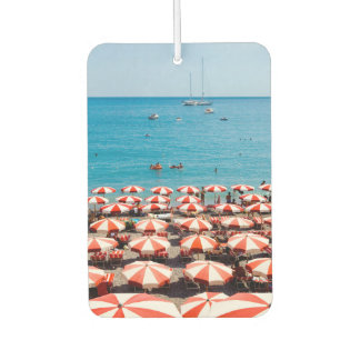 Umbrellas On Amalfitan Coast Car Air Freshener