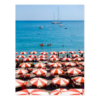 Umbrellas On Amalfitan Coast Postcard