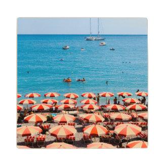 Umbrellas On Amalfitan Coast Wood Coaster