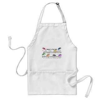 Umbrellas w/Sheet Music Background Adult Apron