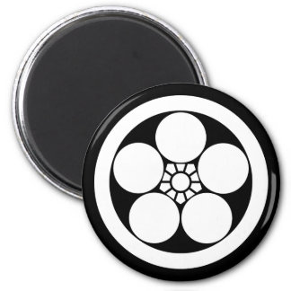 Umebachi-style plum blossom in circle magnet