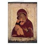 Umilenie Virgin of Wladimir, Moscow School Greeting Card
