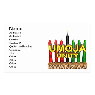 Umoja Double-Sided Standard Business Cards (Pack Of 100)