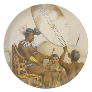Umpanda the King of the Amazulu, plate 11 from 'Th