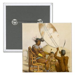 Umpanda the King of the Amazulu, plate 11 from 'Th Pinback Button
