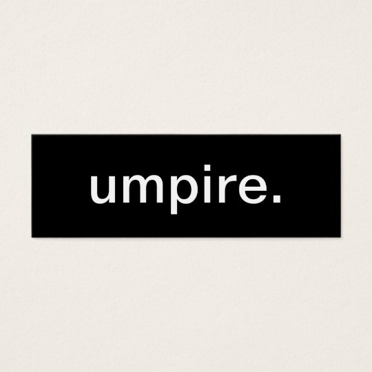 Umpire Business Card