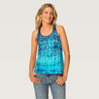 Umsted Design Grungy Pinwheels Tank Top