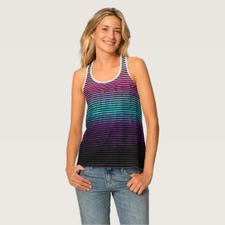 Umsted Design Grungy Stripes Tank Top