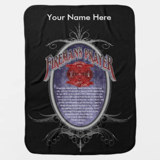 Umsted Design Personalized Firefighter's Prayer Baby Blanket
