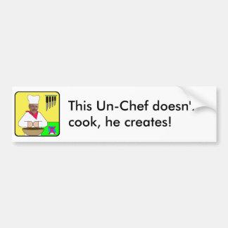 Un-Chef Logo Bumper sticker