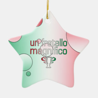 Un Fratello Magnifico Italy Flag Colors Pop Art Ceramic Star Decoration