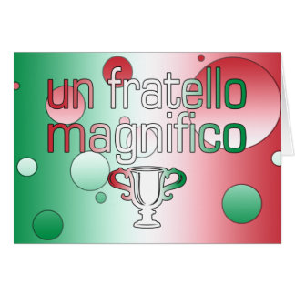 Un Fratello Magnifico Italy Flag Colors Pop Art Note Card