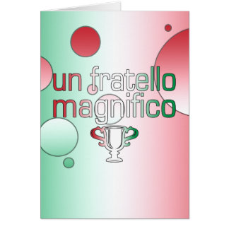 Un Fratello Magnifico Italy Flag Colors Pop Art Note Card
