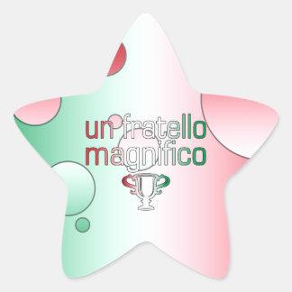 Un Fratello Magnifico Italy Flag Colors Pop Art Star Sticker